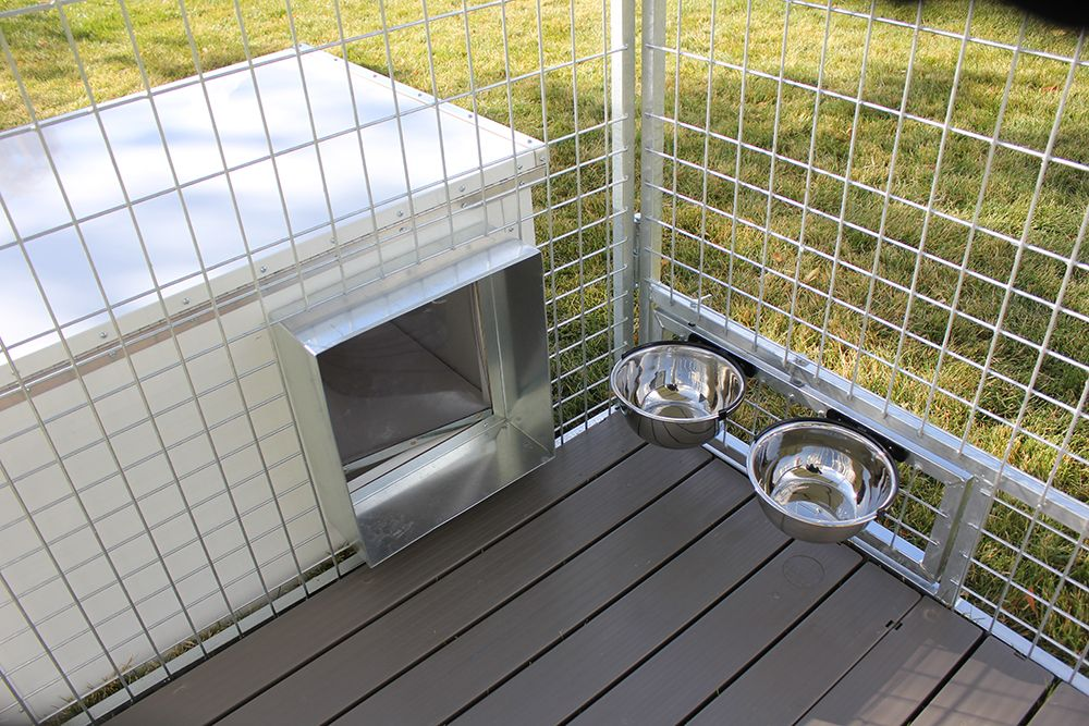 Aluminum Fully Insulted Dog House Works Great With K9 Kennel Store