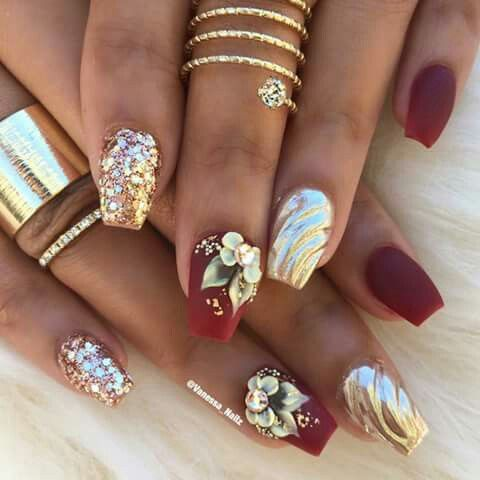 ριитєяєѕт iiiannaiii 🌹💦  3d nails swag nails bridal nails