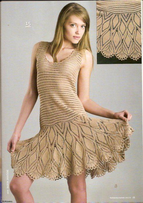 Crochet Summer Dress Crochet Pattern Make Handmade Crochet