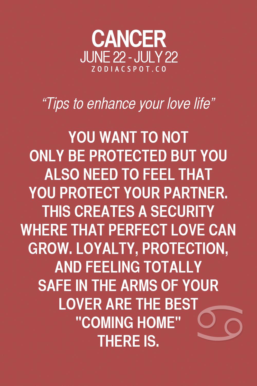 cancer love life horoscope