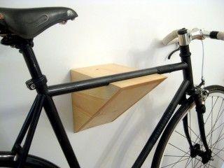 Wall Mounted Custom Wooden Bike Racksthe Wedgie Bike Rack