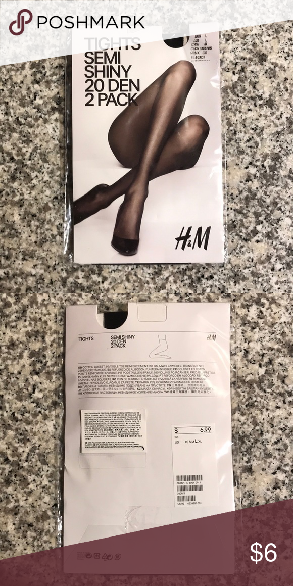 663771fa05d7c NWT 2-pack sheer tights NWT 2-pack sheer, semi shiny tights. Never been  opened. H&M Accessories Hosiery & Socks