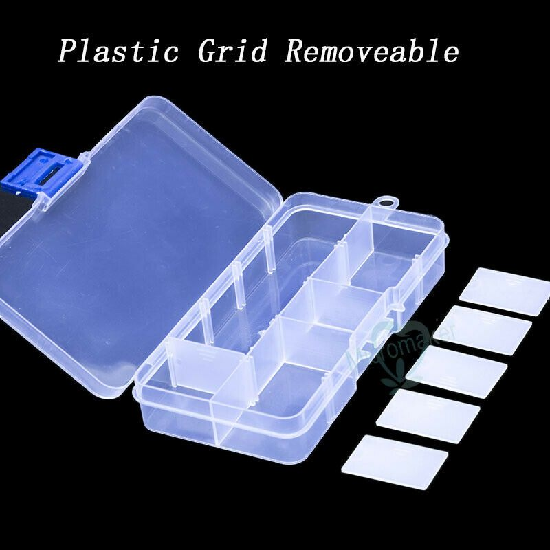 Adjustable 10 Grids Compartment Plastic Storage Box Earring Bead Screw Case Affilink Plastic Box Storage Plastic Storage Plastic Grid