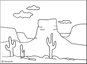 Plateau Landform Coloring Page Projects To Try Coloring Pages