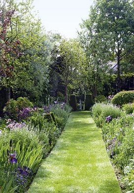 Garden Borders Paths English Cottage Gardens Walled Flower Gardening Flowers Beautiful Backyard Paradise Design