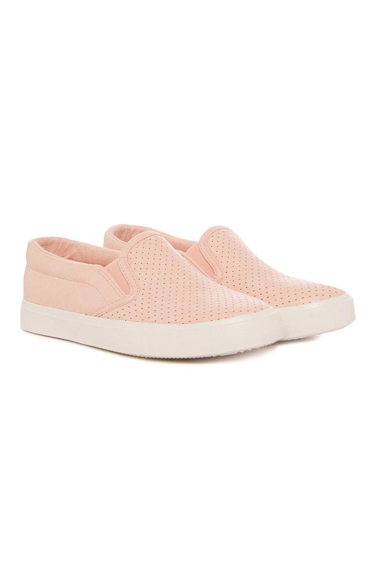 Older Girl Pink Slip On Trainer | Slip