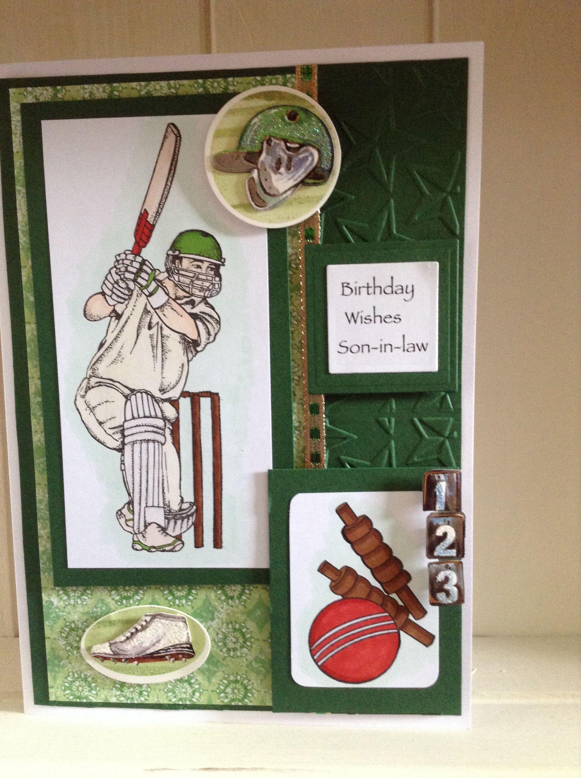 Happy birthday sonin law cricket birthday card happy