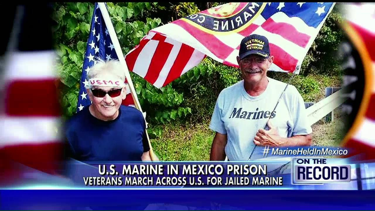 The journey is complete, but what happens next? Greta highlighted Thursday night the arrival of two Marine Corps veterans in Washington, D.C., after their 300-mile walk in support of a U.S. Marine who has been jailed in Mexico for almost six months.