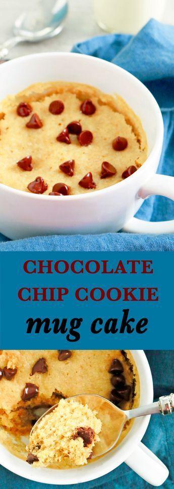 Chocolate Chip Cookie Mug Cake | Recipe | Mug recipes, No ...
