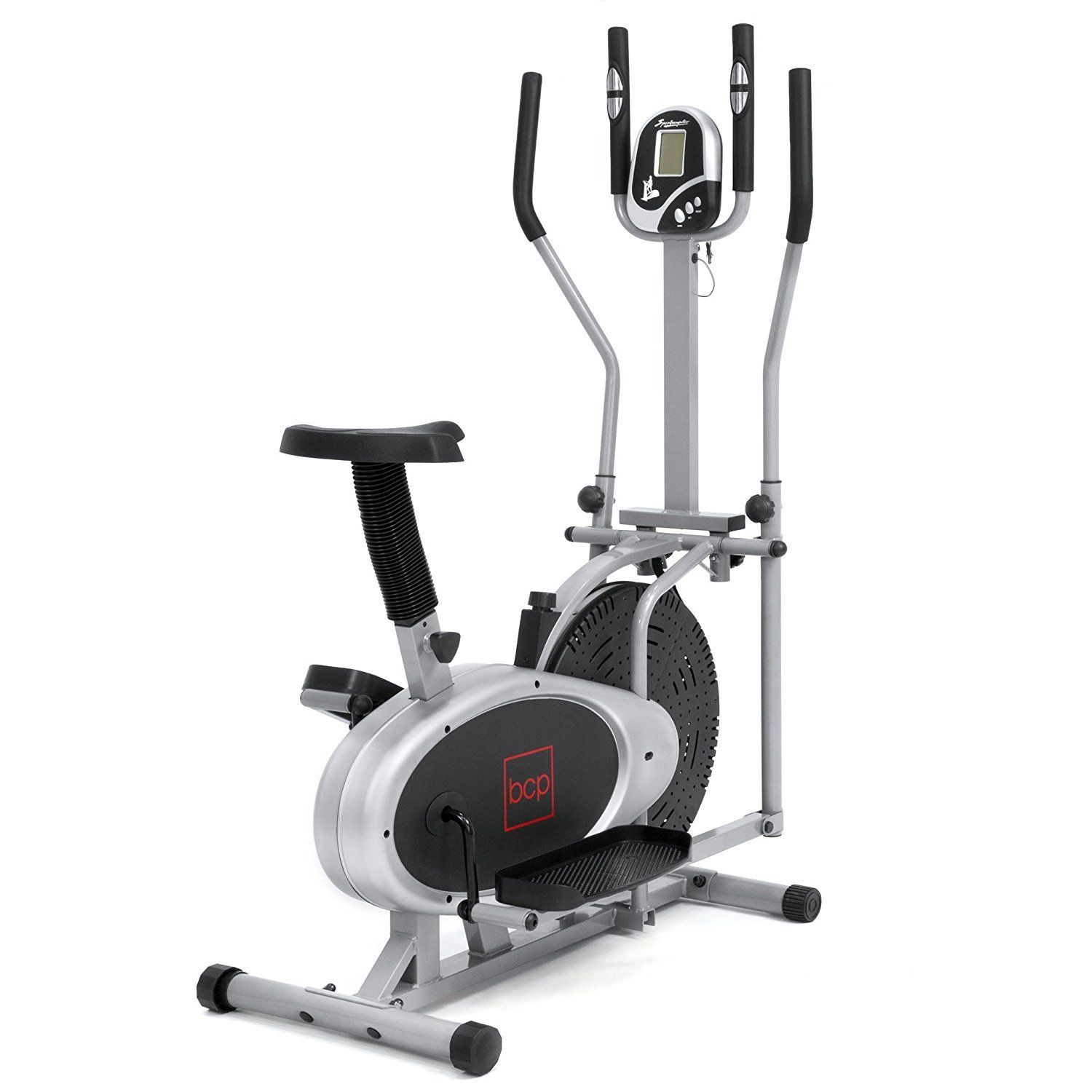 Best Choice Products 2in1 Elliptical Bike Cross Trainer Exercise