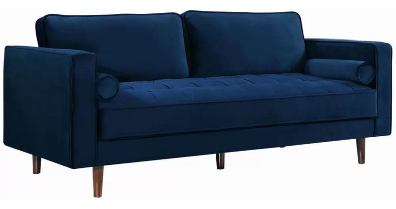 Everly Quinn Pamula Sofa Reviews Wayfair In 2020 Blue Velvet Sofa Upholstered Sofa Velvet Sofa