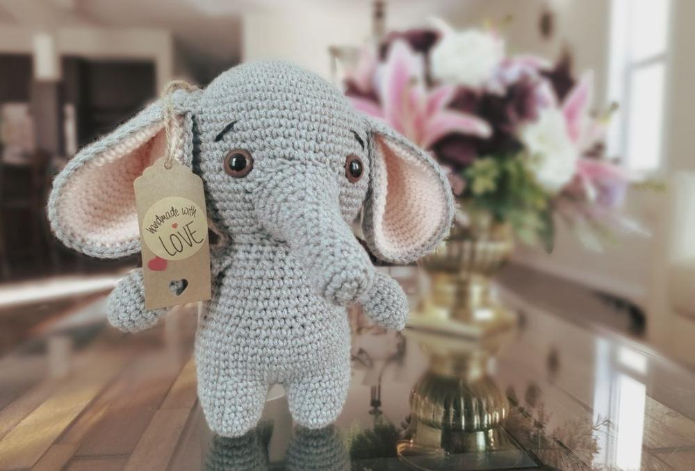 Elton the Elephant Free Crochet Pattern