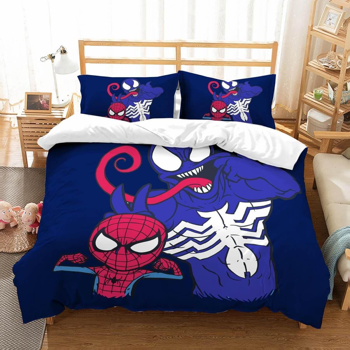 3d Customize Venom Spider Man Bedding Set Duvet Cover Set