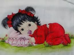 Resultado de imagen para pinterest pinturas em fraldas bebes negras