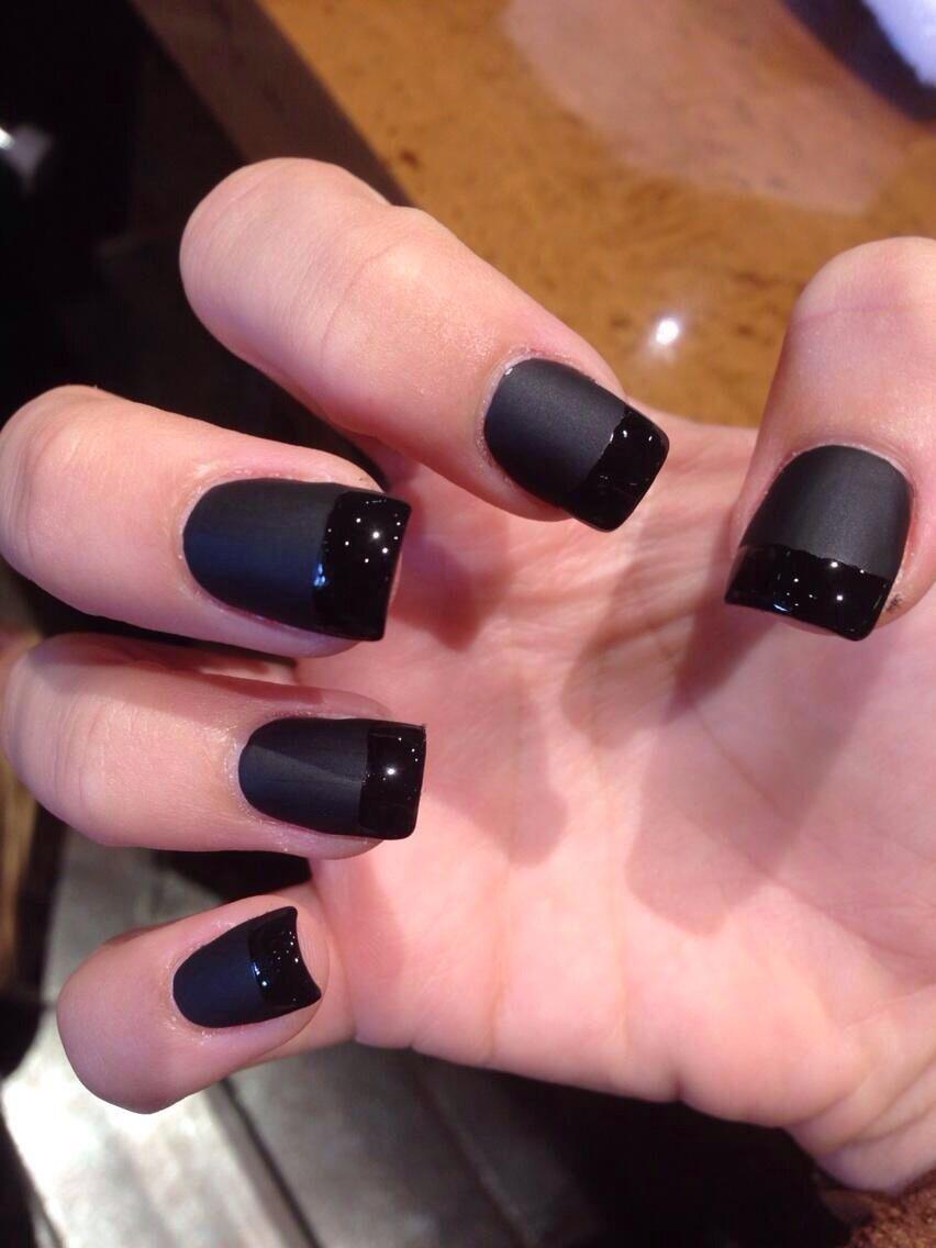 Matte black acrylic nails | Acrylic nails | Pinterest | Black ...