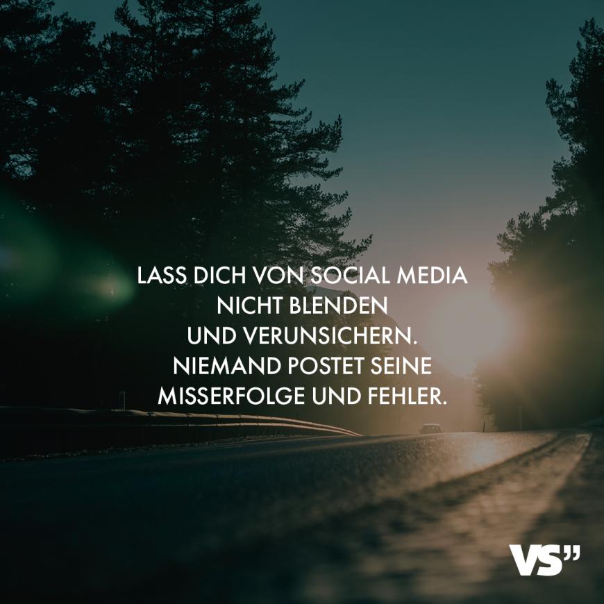 Visual Statements Lass Dich Von Social Media Nicht