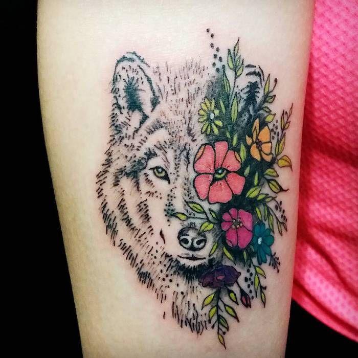 1001 mod les de tatouage loup pour femmes et hommes tattoo pinterest tatouage tete de. Black Bedroom Furniture Sets. Home Design Ideas