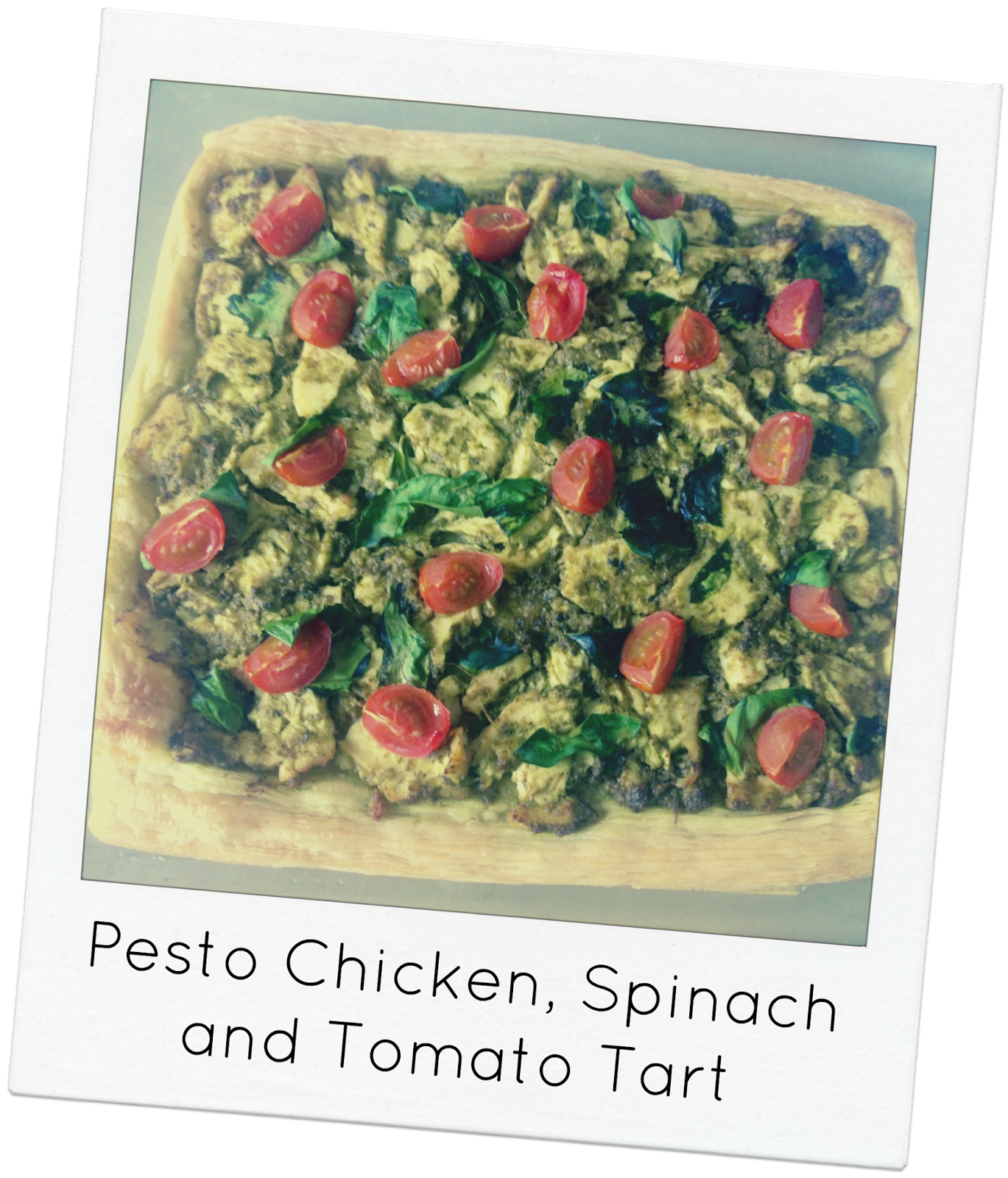 Pesto Chicken, Spinach and Tomato Tart | Food - bring on ...