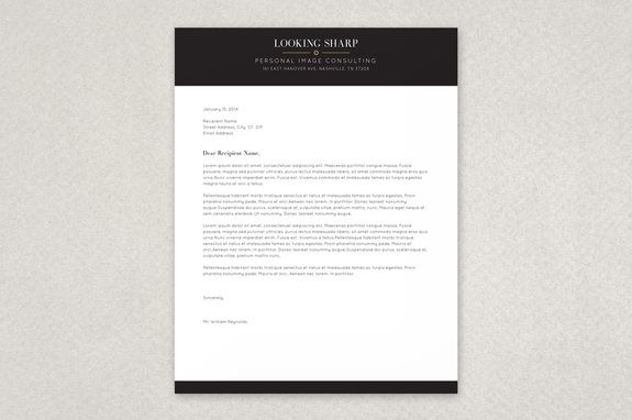 Classy Stylist Letterhead Template A Tasteful Modern Stationery