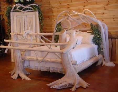 Attirant Rustic Bedroom Furniture, Log Bed, Mission Beds, Burl Wood Furnishings, Log  Cabin