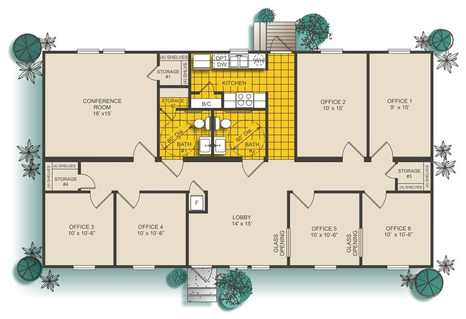 1620 Sq Ft Office Building In 2019 Medical Office