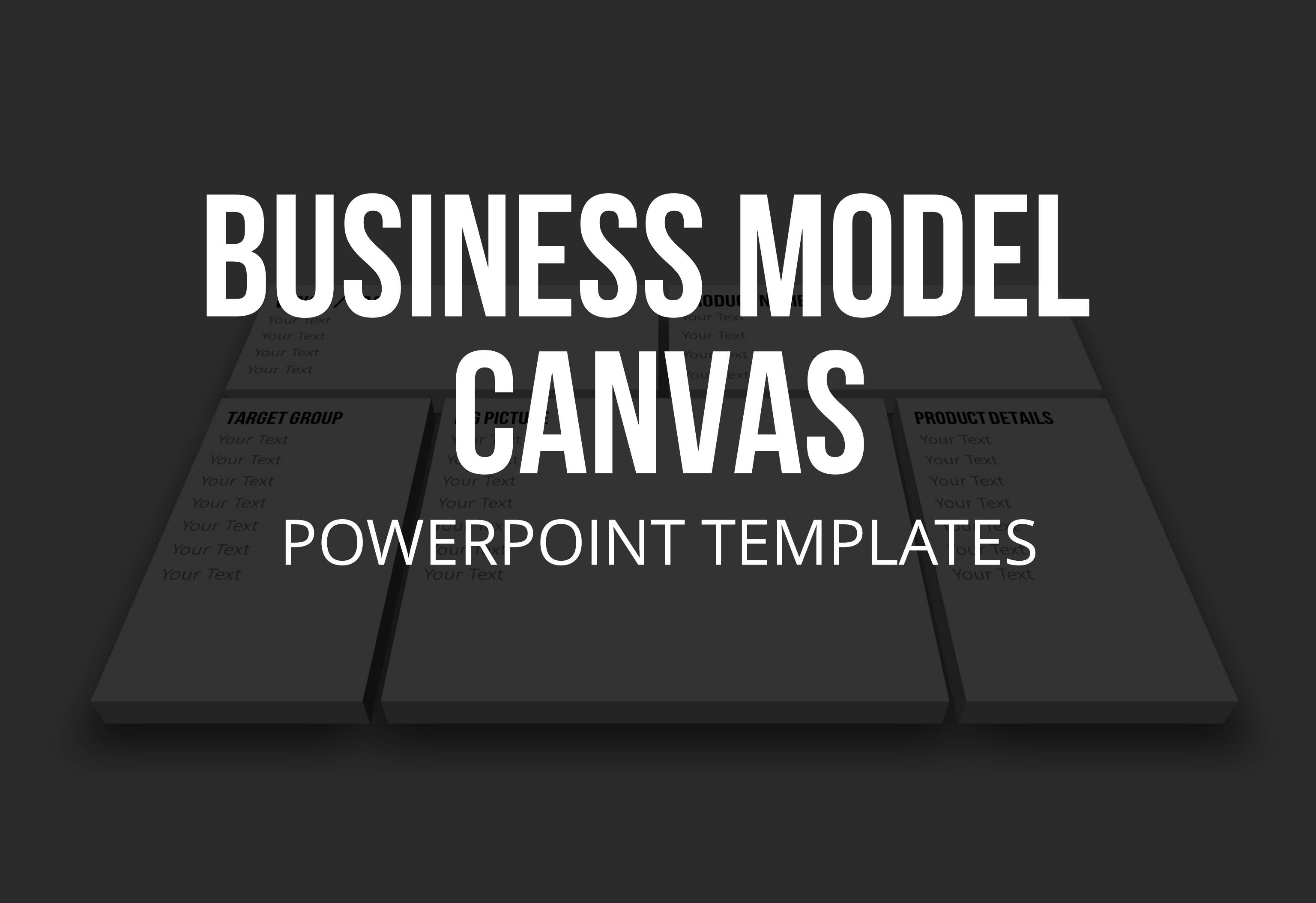 Business Model Canvas Templates Bmc For Powerpoint For The