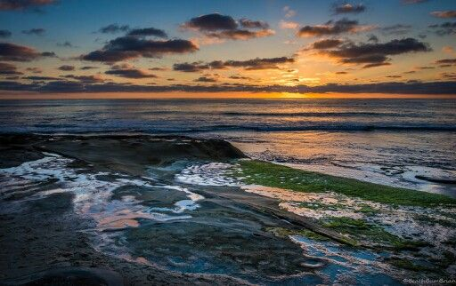 Sunset across the Pacific. San Diego, CA