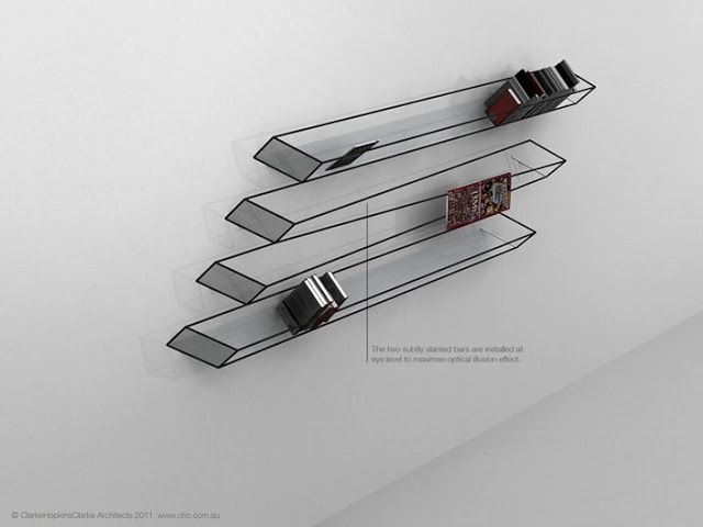 craziest architecture: Optical Bookshelf - Awesome Design