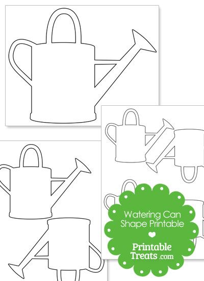 printable watering can shape from printabletreats com shapes and
