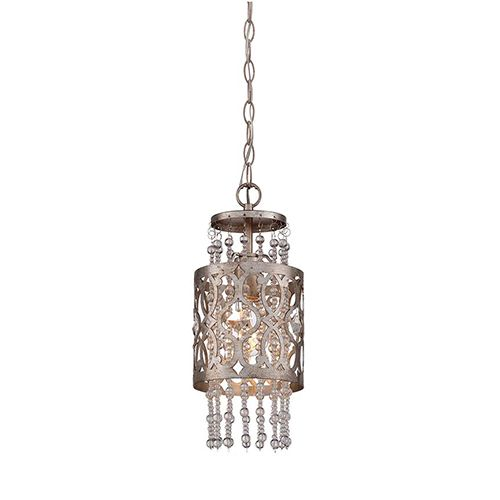 DAngelo 8 Light Round Clear Glass Chandelier, Chrome, Small CHROME 23.5 INCHES 23.5 INCHES