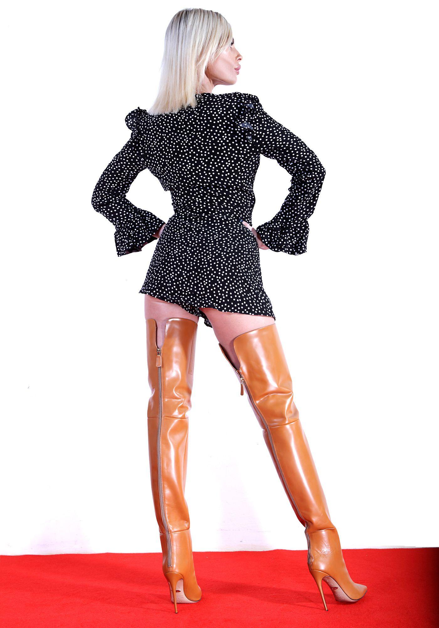 ALINA70 tan | Schuhe in 2019 | Shoe boots, Thigh high boots