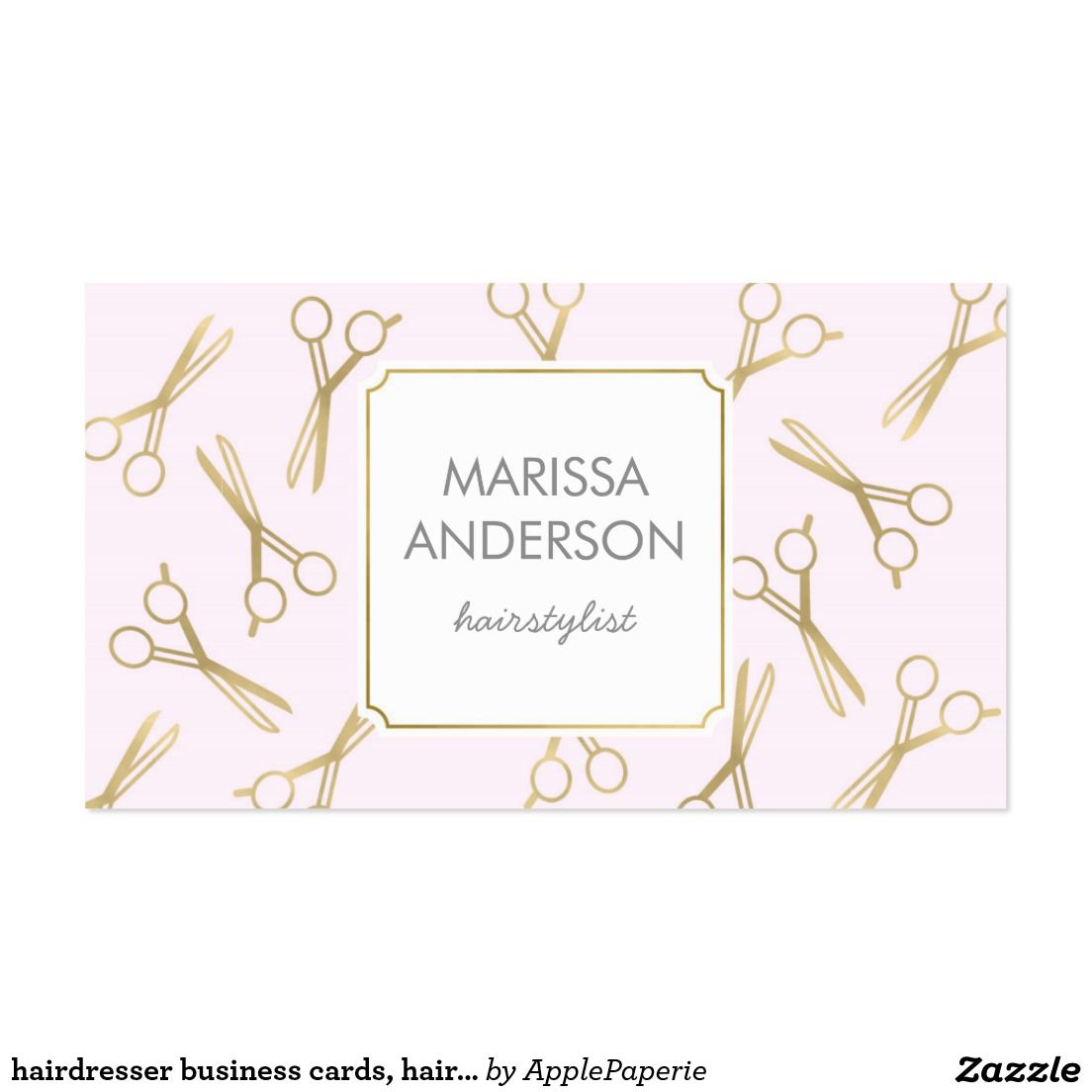 hairdresser business cards, hairstylist, makeup business card ...
