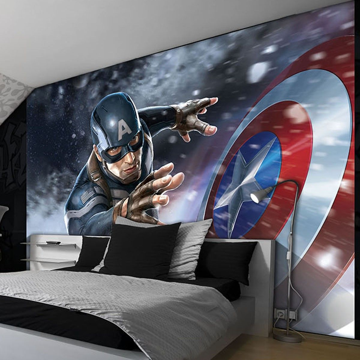 Captain America Wallpaper Marvel Room Avengers Room Marvel Avengers Bedroom