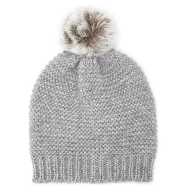Forever 21 Women s Faux Fur Pom Beanie ( 5.99) ❤ liked on Polyvore  featuring accessories 01f34ad67be7