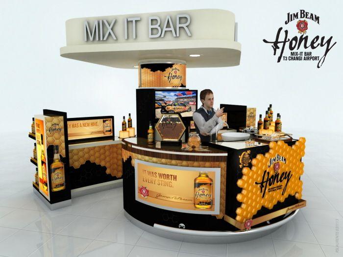 Bar counter design 3d render by mel laurente at coroflot for Veterinario di punto di cabina