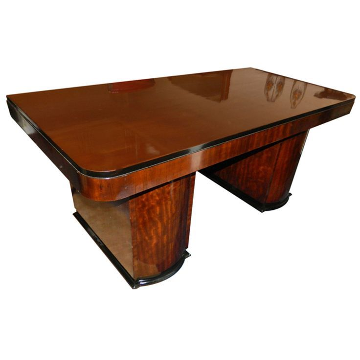 image result for stunning 74 inches golden ebony art deco style desk