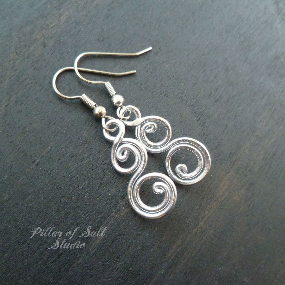 3dc939e74 Aluminum earrings double spiral curlique | Beads crafting | Jewelry ...