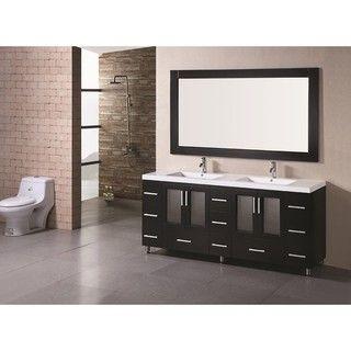 Design Element Stanton 72Inch Doublesink Bathroom Vanity Gorgeous Design Element Bathroom Vanity 2018