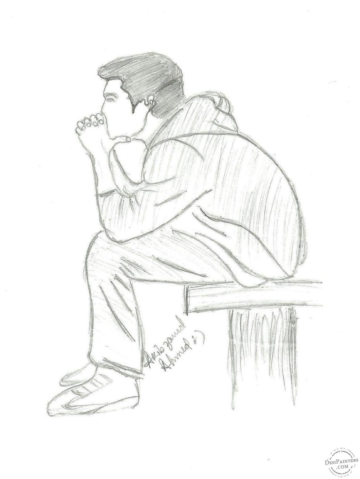 Sad alone boy painting pencil https cstu io 7ccc7b beautiful illustration