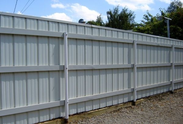 Corrugated Metal Fence Panels Fencing To Design Decorating