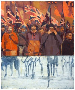 Disgruntled Youths March On Art Print Art Art Prints Painting