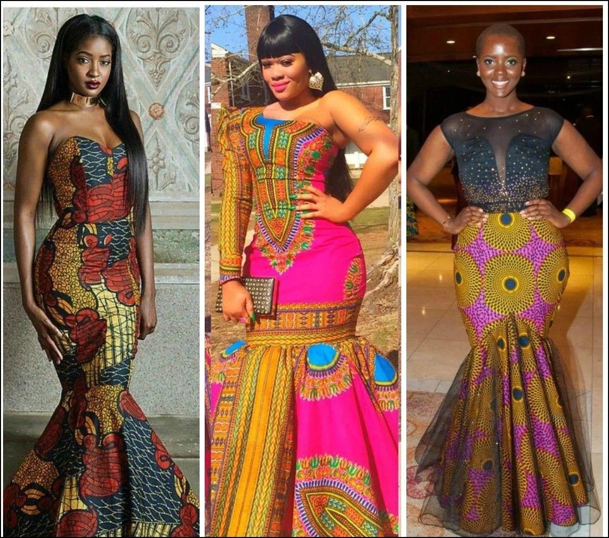 Ankara Dinner Gowns My Cloths African Fashion African Attire Gowns