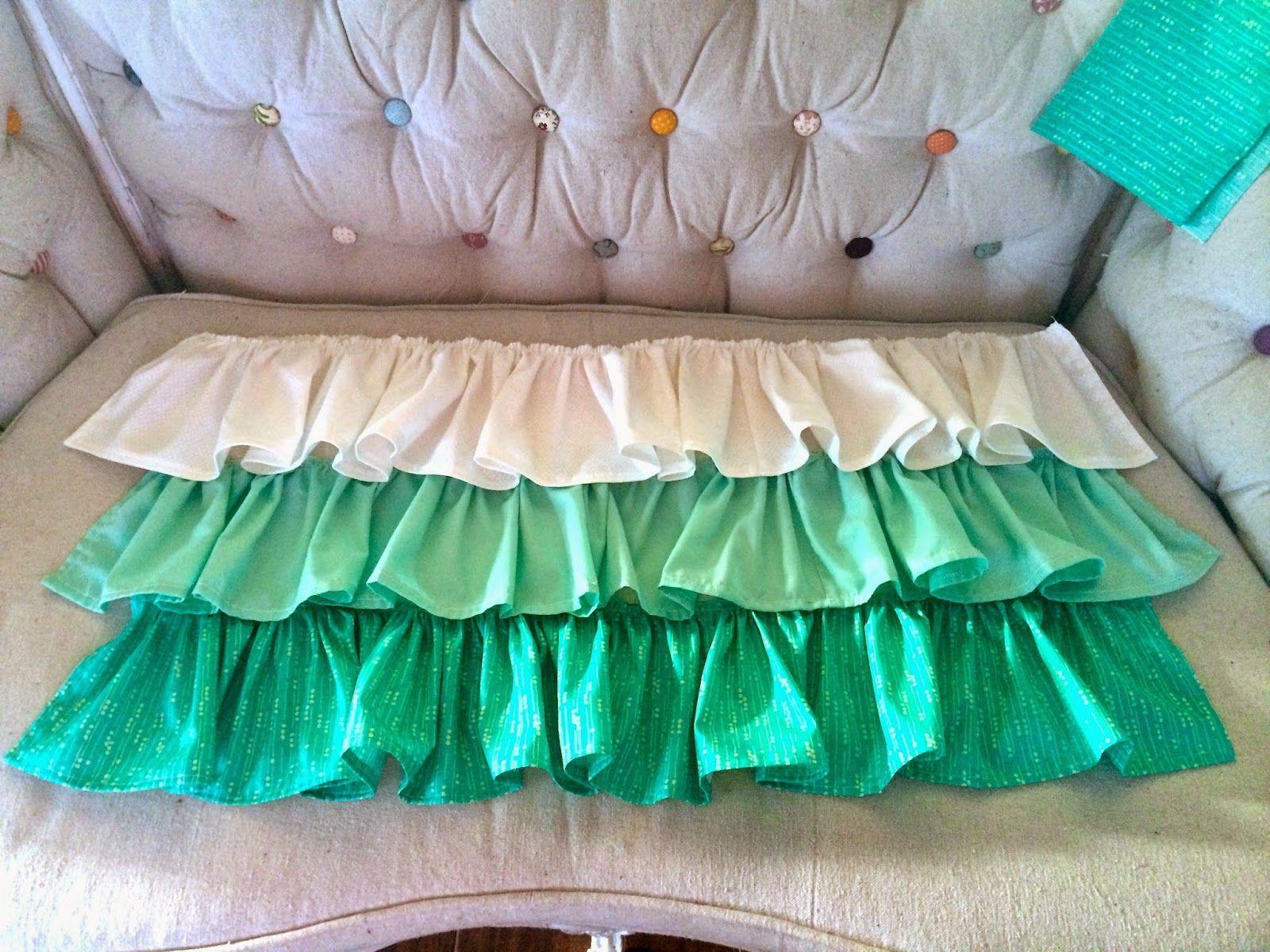 diy ruffled crib skirt tutorial cribs pinterest crib skirt