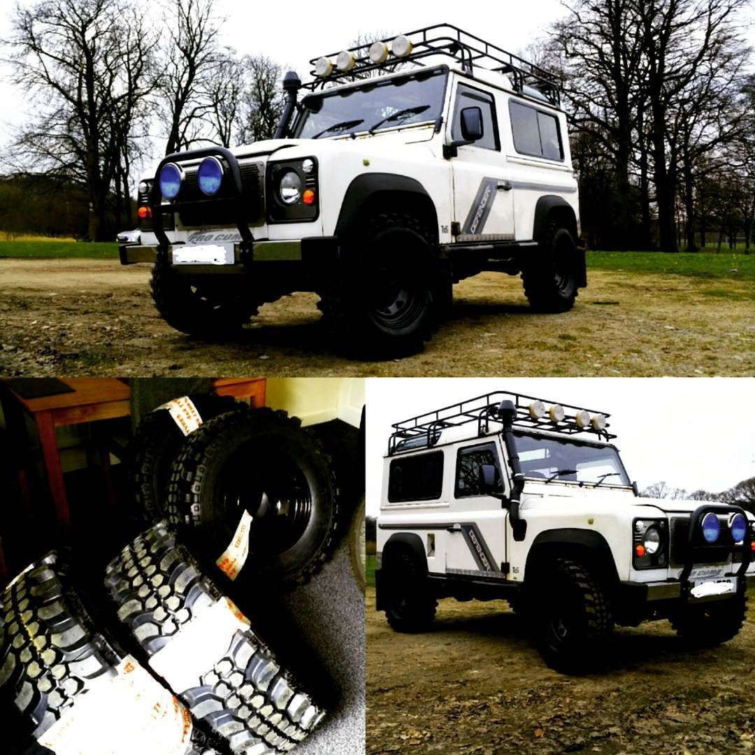 """Got some new """"boots"""" for my #landrover #defender #defender90 #landroverdefender #orn #offroad #insaturbo #dakar by lg_star Got some new """"boots"""" for my #landrover #defender #defender90 #landroverdefender #orn #offroad #insaturbo #dakar"""