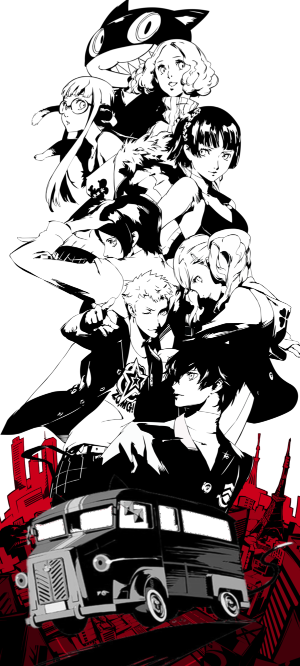 Just A Little Something I Did This Afternoon Using Persona 5 Characters Png S I Present To You The Awesome Crew Persona 5 Persona Shin Megami Tensei Persona