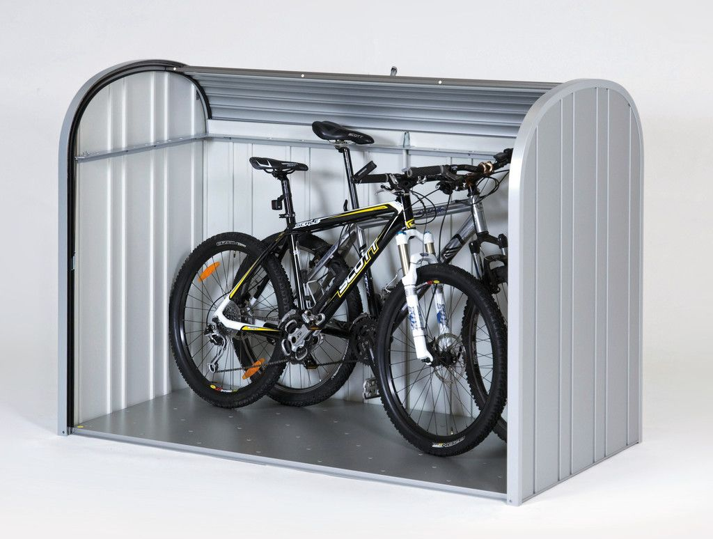 m lltonnenboxen fahrradgarage aus metall biohort abstellbox pinterest fahrradgarage. Black Bedroom Furniture Sets. Home Design Ideas