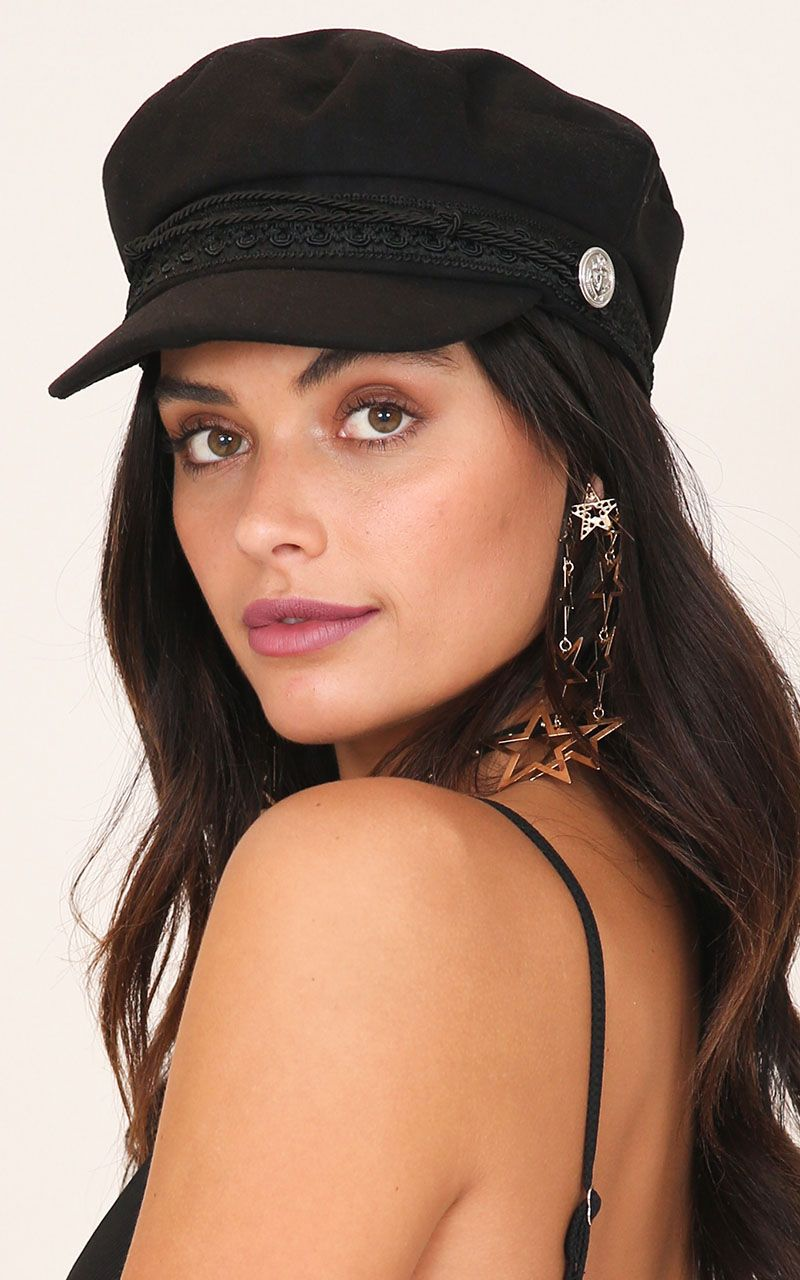 bd563988a1508 Boss Woman Conductor hat in black Produced in 2019