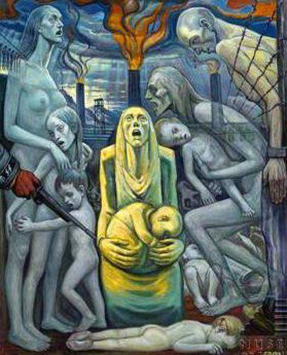 David Olère, Le Cri - Extermination de femmes et d'enfants innocents