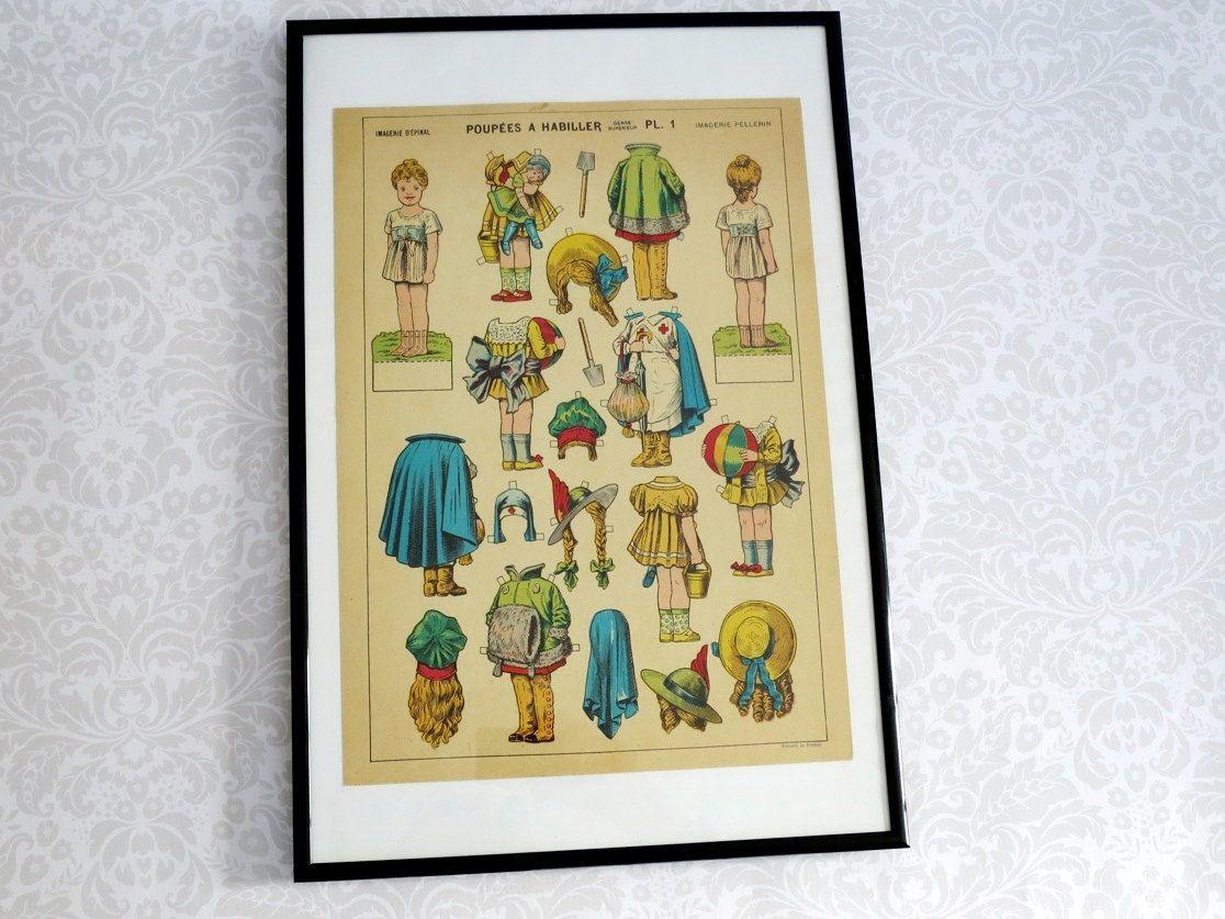 French Paper Doll Illustration Frameable Art ~ pin4etsy.com        #Pin4Etsy, #etsytsu, #pht1, #etsymntt, #vintage, #etsyfinds