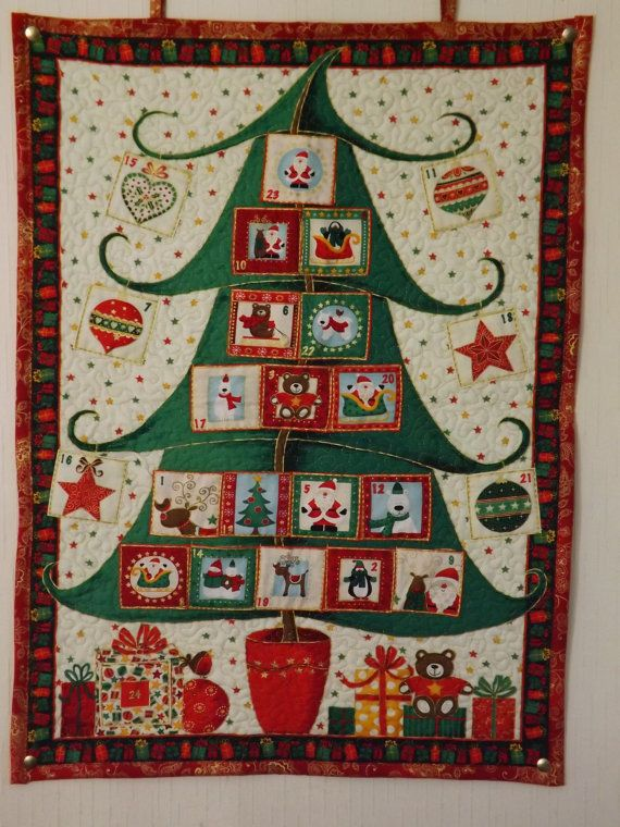 Christmas Tree Advent Calendar by ClaresQuiltsnSoftToy on Etsy, £30.00